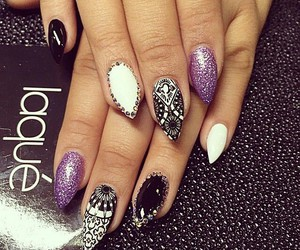 glitter, nail art, and lacquer image