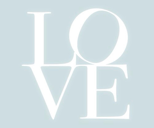 love, blue, and white image
