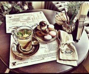 food, macaroni, and tea image