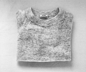 acne, gray, and sweater image