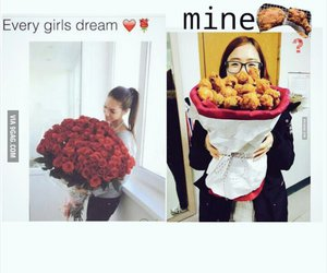 funny, roses, and chicken bucket image