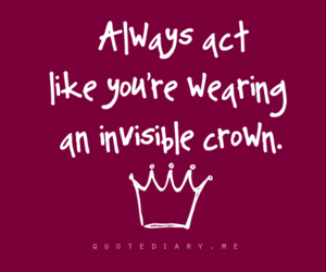quote, crown, and text image