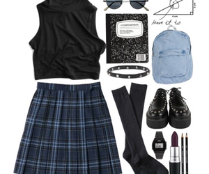 outfit, grunge, and look image