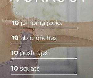 exercise, fit, and morning workout image