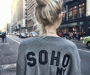 girl, hair, and soho image