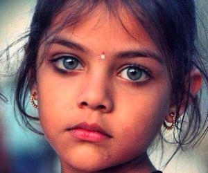 girl, eyes, and child image