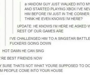 xbox, funny tumblr, and sing star image