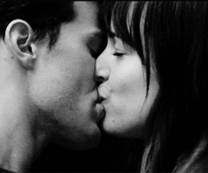 kiss, fifty shades of grey, and kissing image