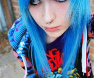 blue hair, emo, and hannah walpole image