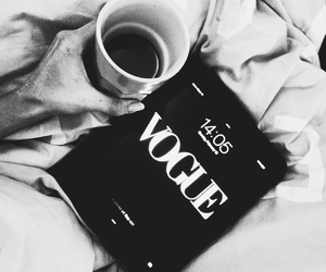 coffee, vogue, and b&w image