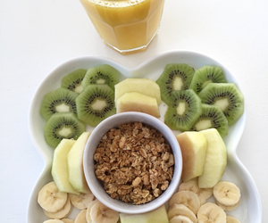 banana, fruit, and kiwi image
