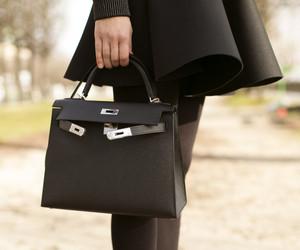 black, fashion, and hermes bag image
