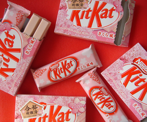 kitkat, food, and pink image