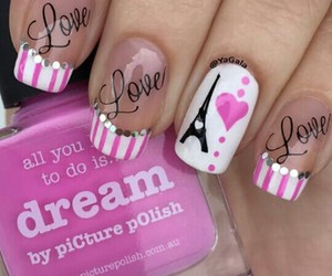 love, nails, and pink image
