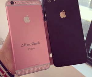 pink, iphone, and black image