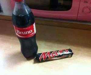 chocolate, coca cola, and funny image