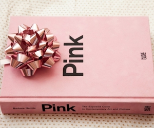 pink, book, and bow image
