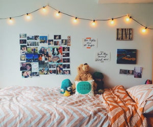 bedroom, hipster, and room image