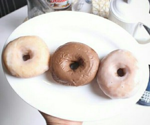chocolate, donuts, and donut image