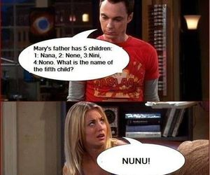 funny, sheldon, and penny image