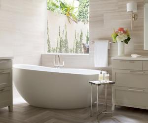 bath, bathtub, and modern image