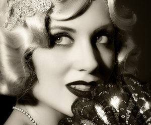 20s, black and white, and eyes image