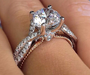 beauty, ring, and diamond image