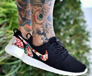 nike, tattoo, and shoes image