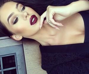 dark lips, flawless, and girl image