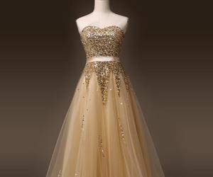 beautiful dress, evening dress, and glitter image