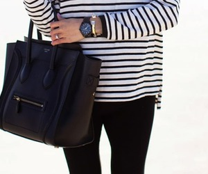 fashion, black, and celine image