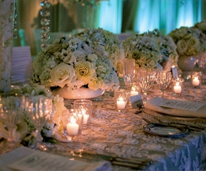 beads, candles, and flowers image