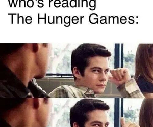 book, hunger games, and dylan o'brien image