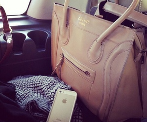 celine, bag, and iphone image