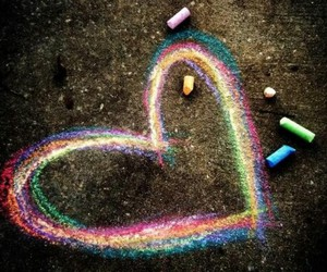 chalk, heart, and cloroful image