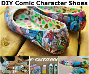 diy, shoes, and comic image