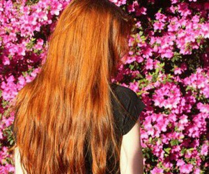 flowers, long hair, and ruiva image