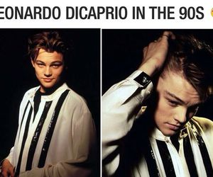 leonardo dicaprio, 90s, and Hot image