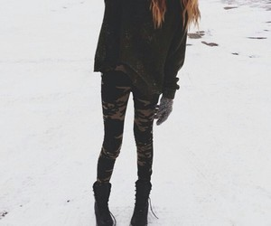 fashion, hipster, and snow image