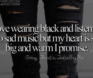 music, black, and heart image