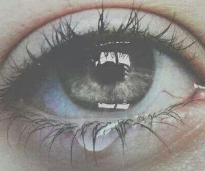 eye, cry, and sad image