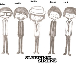 art, drawing, and sleeping with sirens image