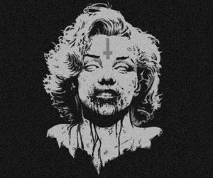 zombie, Marilyn Monroe, and marilyn image