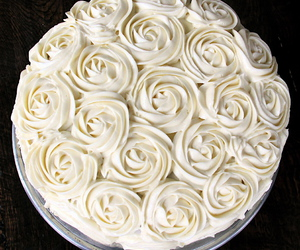 cake, Cinnamon, and rose image