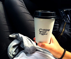 coffee, black, and outfit image