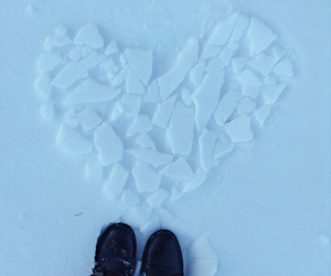 boots, heart, and ice image
