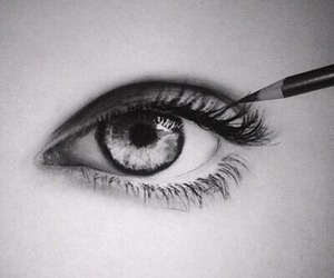 drawing, eye, and art image