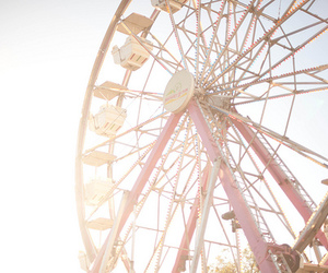photography, ferris wheel, and pink image