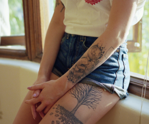 boho, tatoo, and grunge image