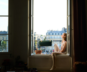 girl, window, and paris image
